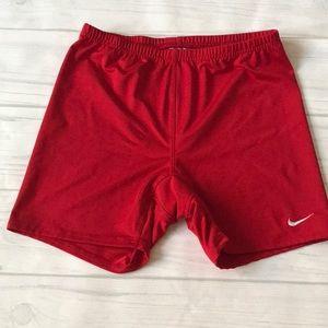 Nike women's Large running red shorts